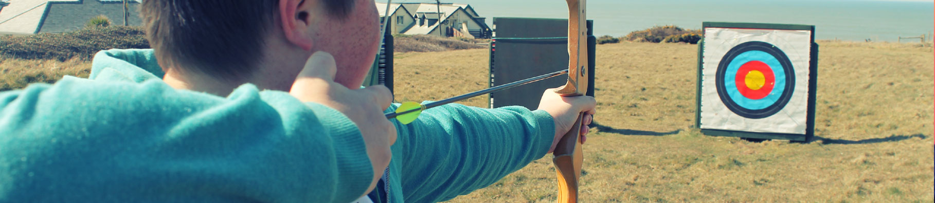 Archery activity at Shoreline in Bude, Cornwall