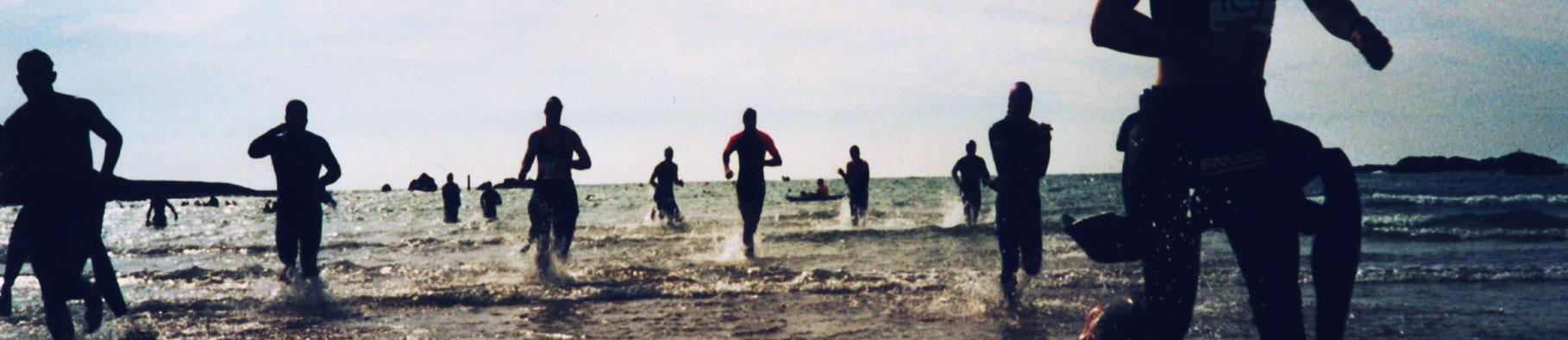 Triathlon event by Shoreline in Bude, Cornwall
